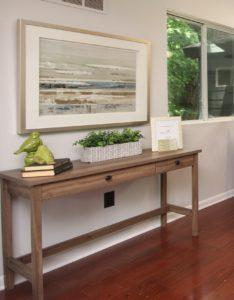 A foyer table